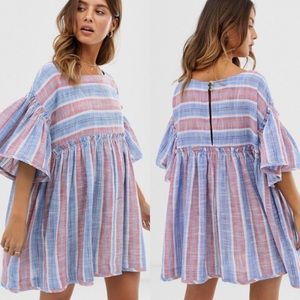FREE PEOPLE Lagun Blue Summer Nights Tunic/Dress